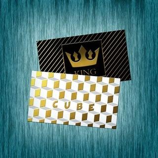 Raised foil business card