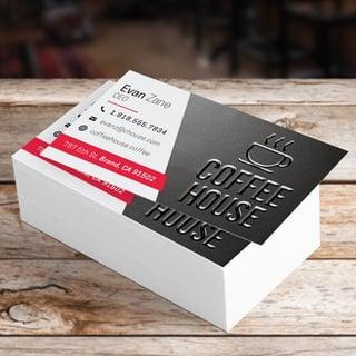 Raised printed UV business card