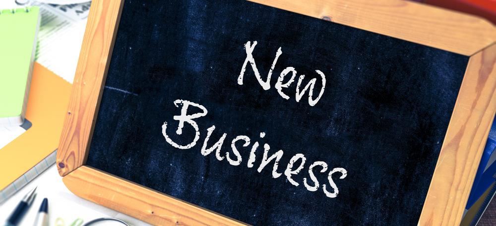 New Business Chalk Board
